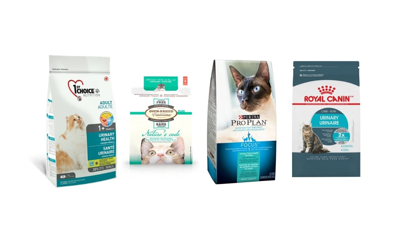 Quatre choix de marques de nourritures pour la santé urinaire du chat